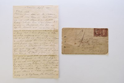 Lot 26 - CRIMEAN WAR, ALS from private Thomas Arms of...