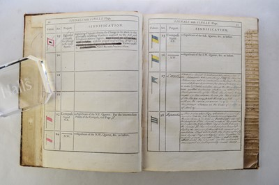 Lot 185 - SIGNAL BOOK FOR THE SHIPS OF WAR, 1794....