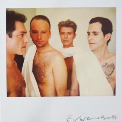 Lot Edward Bell (British Contemporary) Polaroid Tin Machine in Togas