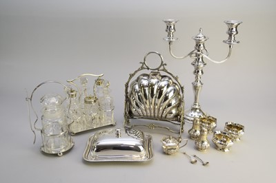 Lot 9 - A collection of silver and plated wares