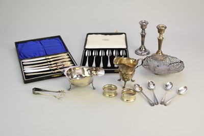 Lot 19 - A small collection of silver and plate