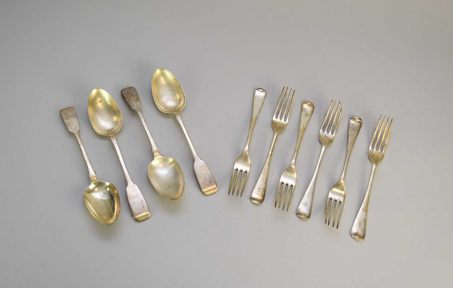 Lot 11 - A collection of silver forks and spoons