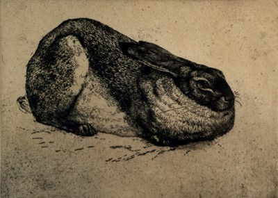 Lot 2 - Charles Frederick Tunnicliffe  OBE RA(1901-1979) The Sitting Hare