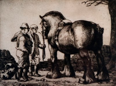 Lot 8 - Charles Frederick Tunnicliffe OBE RA (1901-1979) The Stallion