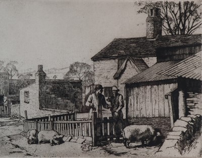 Lot 9 - Charles Frederick Tunnicliffe OBE RA (1901-1979) The Pig Dealer