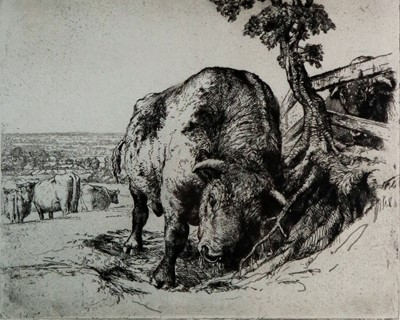 Lot 6 - Charles Frederick Tunnicliffe OBE RA (1901-1979) The Bull