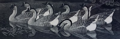 Lot 22 - Charles Frederick Tunnicliffe OBE RA (1901-1979) Chinese Geese