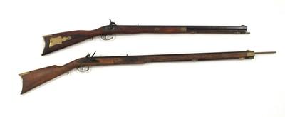 Lot 5 - Two Spanish reproduction black powder rifles