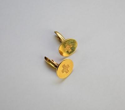 Lot 37 - A pair of 9ct gold cufflinks