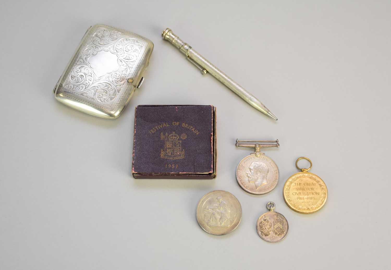 Lot 15 - A silver cigarette case