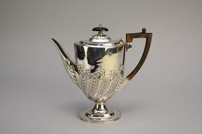 Lot 1 - A late Victorian silver coffee pot