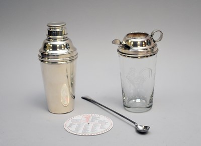 Lot 10 - A silver plated cocktail set