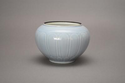 Lot A Chinese Claire-de-Lune lotus bowl, probably Yongzheng