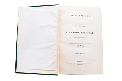 Lot 20 - WOOLHOPE CLUB, Transactions of the Woolhope Naturalist's Field Club, 1852-1920