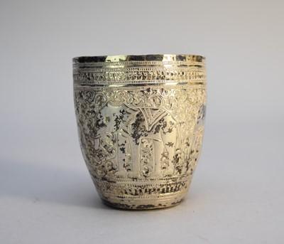 Lot 7 - A white metal beaker