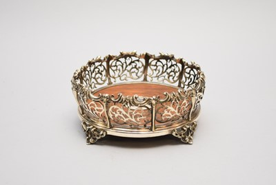 Lot 3 - A 19th century silver plated bottle coaster