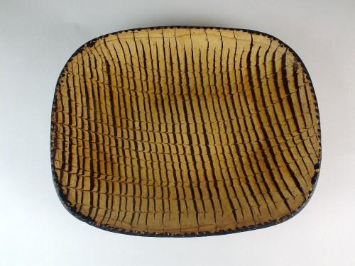 Lot 36-A Staffordshire slipware dish, mid-late 18th...