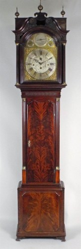 Lot 187-A George III mahogany musical longcase clock, the ...