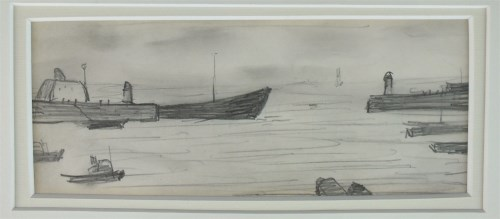 Lot 589-Laurence Stephen Lowry RA (1887-1976) Tanker...