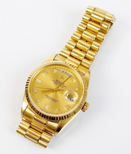 Lot 274-A Gentleman's 18ct gold Rolex Oyster Perpetual...