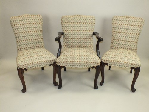 Lot 789-A set of 18 (16+2) mahogany framed dining chairs, ...