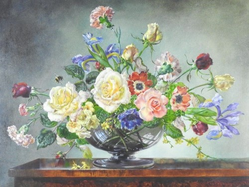 Lot 385-Cecil Kennedy (1905-1997) Summer Flowers, signed...