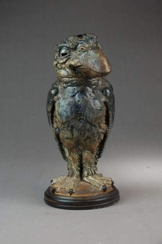 Lot 118-A tall Martin Brothers' stoneware bird tobacco...